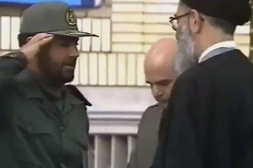 ببینید | فیلم منتشر نشده از مراسم اعطای درجه سرتیپی به شهید حاج قاسم سلیمانی توسط رهبر معظم انقلاب