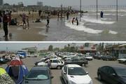 ببینید | ساحل بابلسر در ۱۴ خرداد /جماعتی که انگار کرونا را شکست داده اند!