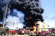 تصاویر | آتشسوزی در پالایشگاه تهران