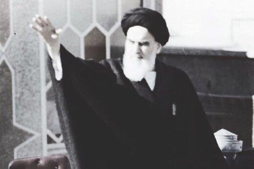 عکس منتشر نشده از امام خمینی(ره) که به برج آزادی اهدا شد