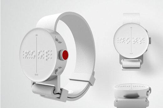 ببینید | اولین ساعت هوشمند جهان با خط بریل برای نابینایان !