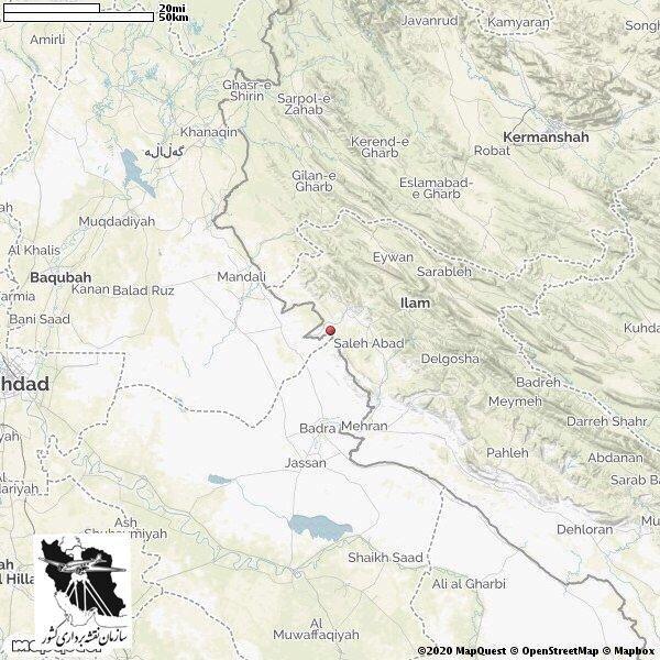 زلزله ۵ ریشتری ظهر امروز صالح آباد ایلام با عمق ۱۱ کیلومتری تا کنون ۴ پس لرزه به بزرگی ۳.۵ ریشتر در پی داشته است.