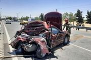 ببینید | تصادف وحشتناک پژو پارس با کامیونت در جنوب تهران