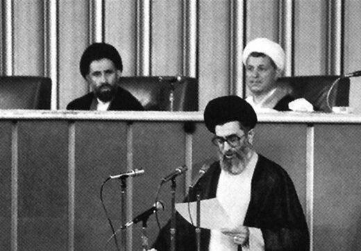 ببینید | سخنرانی تاریخی آیت الله خامنهای در جلسه خبرگان رهبری در روز انتخابشان به عنوان رهبر انقلاب