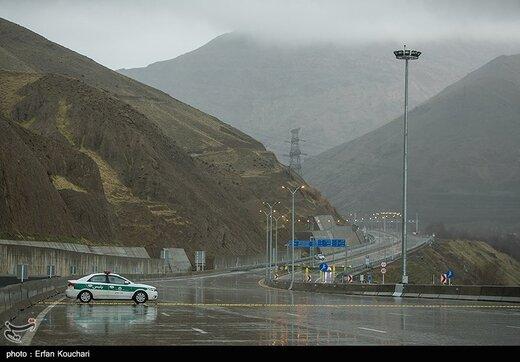 قطعه ۴ آزادراه تهران-شمال بسته شد