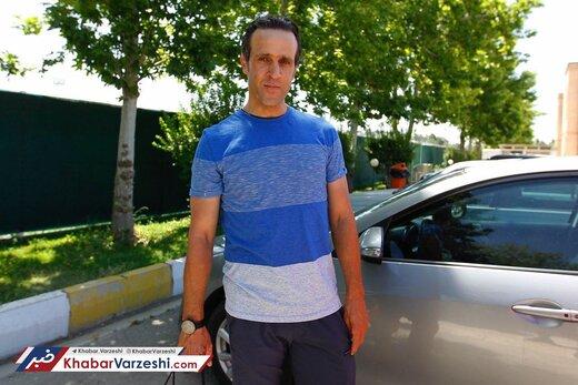 علی کریمی ورزش را رها نمیکند/عکس