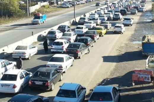 ببینید | جاده هراز و ترافیک سنگین بازگشت در روز پایانی تعطیلات