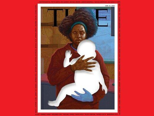 طرح جلدِ تاثیرگذارِ مجله تایم به یاد قربانیان نژادپرستی در آمریکا