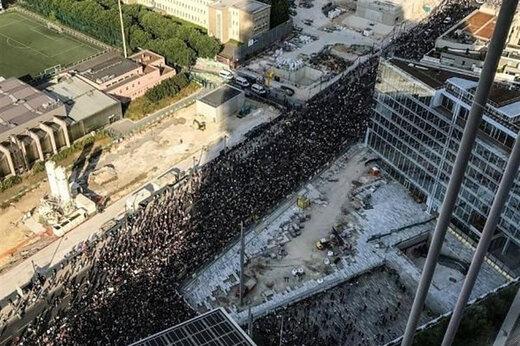 ببینید | تصاویر هوایی از اعتراضات گسترده در چند ایالت آمریکا