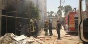 آتش مهمان سرزده ساختمان نیمهکاره در شیراز