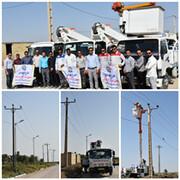 آغاز پروژه پایدار سازی فیدرهای برق روستاهای غرب کارون در خرمشهر