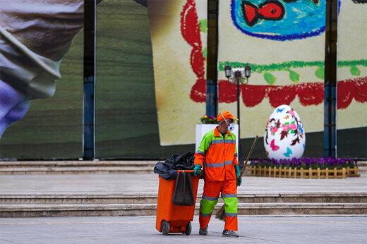ببینید | نارنجی پوشان شهر در روزهای کرونایی