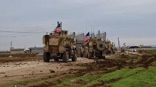 کاروان نظامی آمریکا از عراق به سوریه رفت