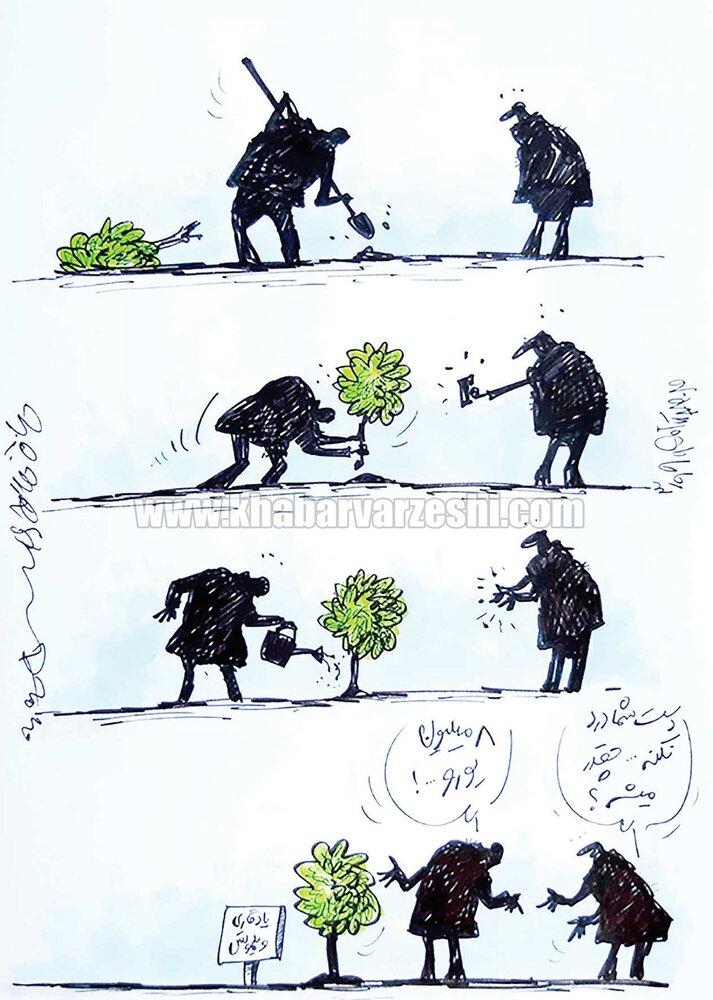 ببینید کاشتن یک درخت چقدر برای فدراسیون آب خورد!