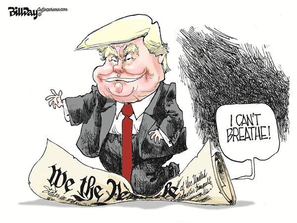 ببینید ترامپ با قانون اساسی آمریکا چه کرد!