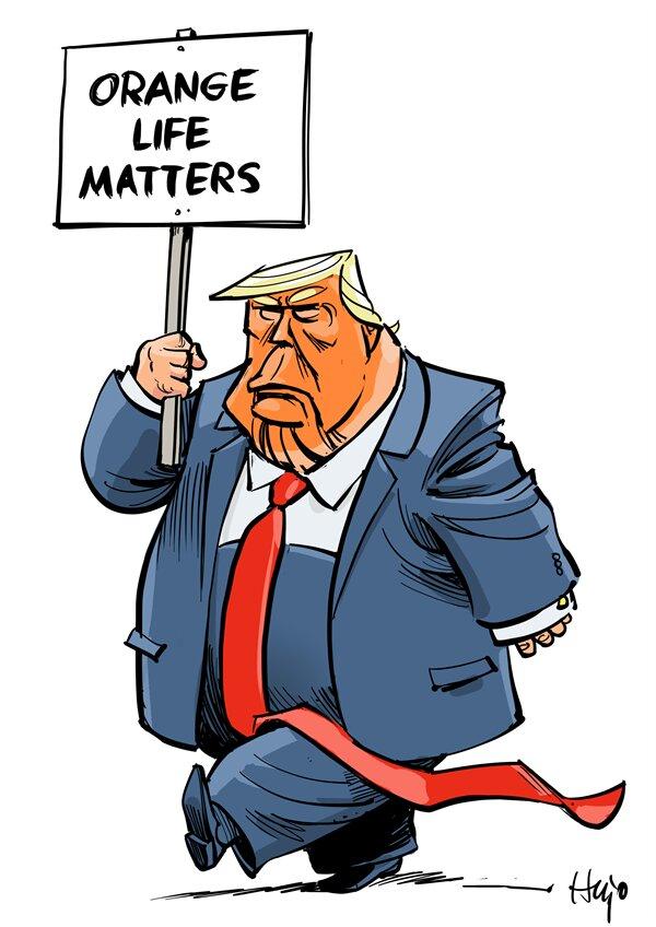 ترامپ: زندگی نارنجیها هم مهم است!