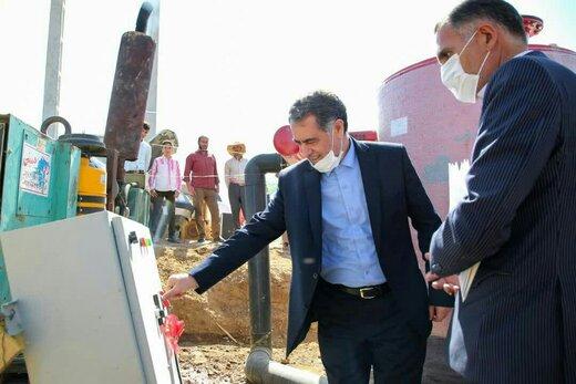 افتتاح طرح سامانه های نوین آبیاری روستای خوی