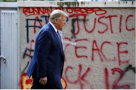 ستاره مشاهیر ترامپ در هالیوود مخدوش شد/ عکس