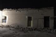 ببینید | اولین فیلم از خسارتی که زلزله ۵.۷ ریشتری دیشب به شهر «بیرم» زد