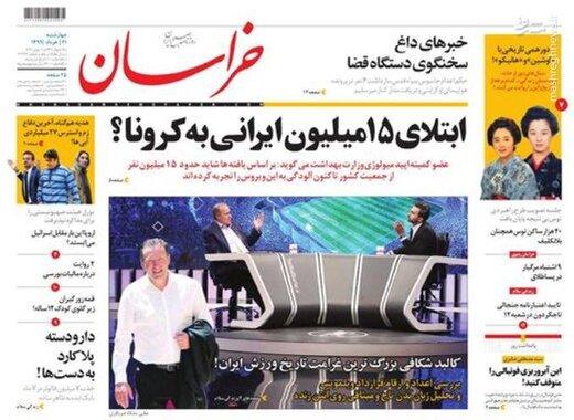 خراسان: ابتلای ۱۵ میلیون ایرانی به کرونا؟