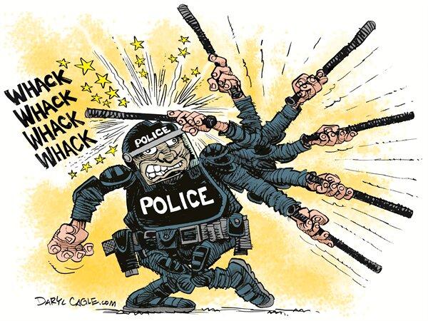 نمایی ویژه از ضرب و شتم پلیس آمریکا رو ببینید!
