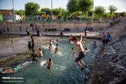 تصاویر | آب تنی در قدیمیترین چشمه تهران برای فرار از گرما