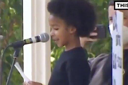 ببینید | رپ خوانی ضد نژادپرستی کودک ۷ ساله در بریتانیا!
