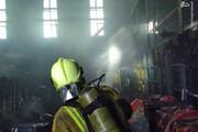 ببینید | تصاویری از محل آتشسوزی ساختمان شیشهای صداوسیما در روز گذشته