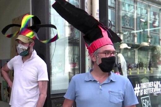ببینید | ساخت کلاههای ویژه رعایت فاصله اجتماعی در پاریس