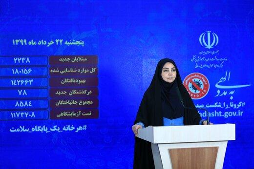 تسجيل 71 حالة وفاة جديدة بفيروس كورونا في إيران
