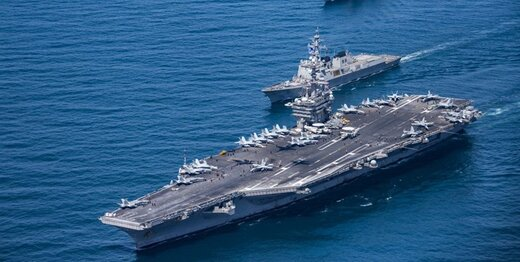 ناوهای هواپیمابر آمریکا در آبهای چین مستقر شدند