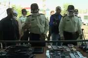 ببینید | اشیاء کشفشده پس از دستگیری 95 سارق در جنوب تهران