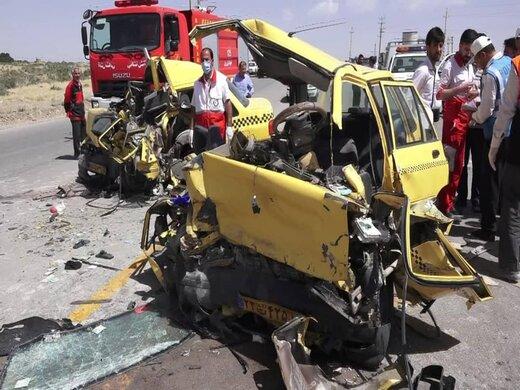رئیس پلیس راه همدان: در برخورد ۲ دستگاه پراید تاکسی، ۱۰ نفر کشته و مجروح شدند