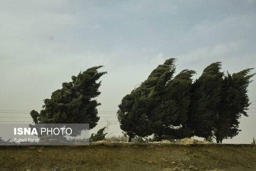 هشدار سازمان هواشناسی نسبت به رگبار و وزش باد نسبتا شدید در این ۱۳ استان
