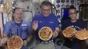 ببینید | جشن پیتزا در ایستگاه فضایی بین المللی!