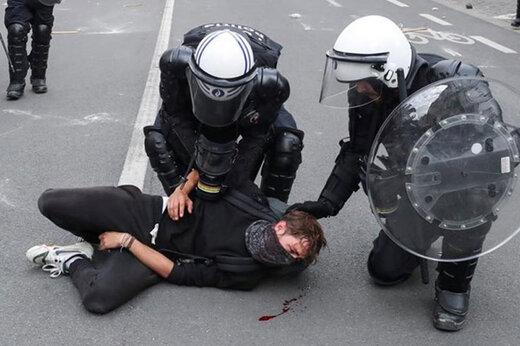 ببینید | بازداشت گسترده معترضان به نژادپرستی در کالیفرنیا