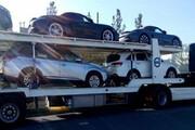 عکس | توقیف یدک کش حامل ۵ ماشین قاچاق ۱۸ میلیارد تومانی در اتوبان کرج!