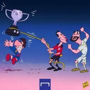 ببینید: داور اینطوری جام را از دست مسی قاپید!