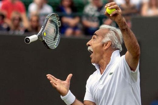 ببینید | حرکات نمایشی دیدنی منصور بهرامی در زمین تنیس