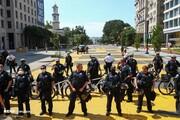 تصاویر | حصار امنیتی پلیس آمریکا در اطراف کاخ سفید