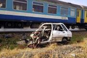 ببینید | تصادف مرگبار قطار و پژو در شوش