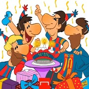 مراسم تولد مسی رو ببینید!