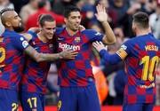 لیگ قهرمانان اروپا؛برد قاطع بارسا بدون مسی
