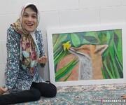 نقاشیهای حیرتانگیز دختر ایرانی / عکس