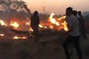 ببینید | آتش سوزی در کوه شب هرمزگان