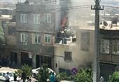آتشسوزی بزرگ در کارخانه ریسندگی خاوران/ تصاویر