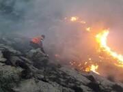حضور داوطلبانه گروههای جهادی در مهار آتشسوزی در منابع طبیعی