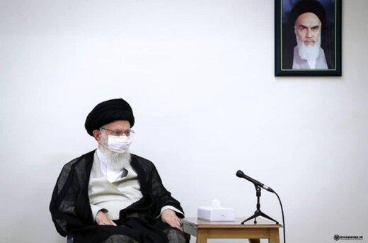 تصویری جدید از ماسک زدن رهبر انقلاب