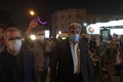 ببینید | حناچی شهردار تهران در محل انفجار بیمارستان سینا