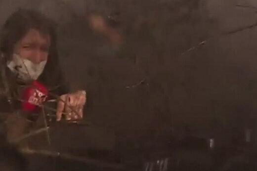 ببینید | وقتی بالگرد اطفاء حریق گزارشگر ترکیه را غافلگیر کرد